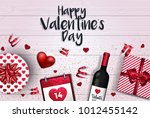 happy valentine's day greeting... | Shutterstock .eps vector #1012455142