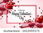happy valentine's day greeting... | Shutterstock .eps vector #1012455172