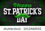 happy saint patrick's day ... | Shutterstock .eps vector #1012460032