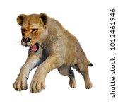 3d rendering of a female lion... | Shutterstock . vector #1012461946