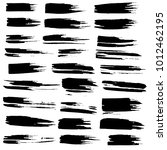 grunge ink brush strokes set.... | Shutterstock .eps vector #1012462195