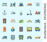 icons set about transportation... | Shutterstock .eps vector #1012463362