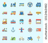 icons set about transportation... | Shutterstock .eps vector #1012463482