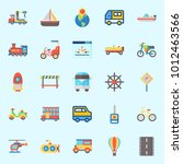 icons set about transportation... | Shutterstock .eps vector #1012463566