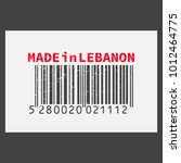 vector realistic barcode  made... | Shutterstock .eps vector #1012464775