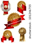 premium quality label set | Shutterstock .eps vector #101246755