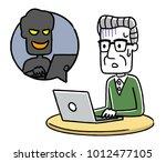 senior male  internet  crime ... | Shutterstock .eps vector #1012477105