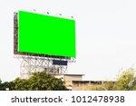 green screen of billbord | Shutterstock . vector #1012478938