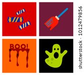 Assembly Flat Icons Halloween...