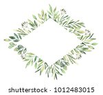 hand drawn watercolor... | Shutterstock . vector #1012483015