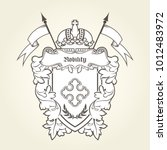 heraldic emblem   royal coat of ... | Shutterstock .eps vector #1012483972