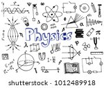physics science doodle    Shutterstock .eps vector #1012489918