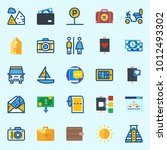 icons set about travel with... | Shutterstock .eps vector #1012493302