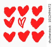 valentine's day heart collection   Shutterstock .eps vector #1012494472