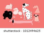illustration of dogs vector | Shutterstock .eps vector #1012494625