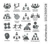 business management icons pack... | Shutterstock . vector #1012500928