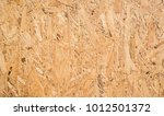 osb boards are made of brown... | Shutterstock . vector #1012501372