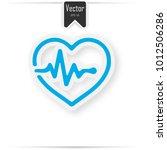 heart pulse beat   blue vector... | Shutterstock .eps vector #1012506286