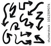 handdrawn arrows set | Shutterstock .eps vector #1012509076
