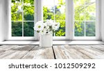 desk of free space with spring... | Shutterstock . vector #1012509292