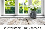 desk of free space with spring... | Shutterstock . vector #1012509355