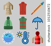icons set about winter with...   Shutterstock .eps vector #1012510672