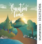 vacation time for traveling in...   Shutterstock .eps vector #1012512406