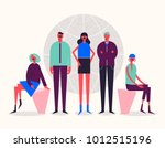 vector stylized characters.... | Shutterstock .eps vector #1012515196