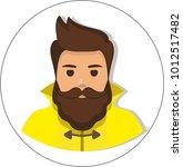 fisherman in raincoat  flat...   Shutterstock .eps vector #1012517482
