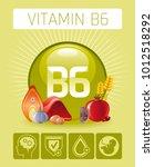 pyridoxine vitamin b6 rich food ... | Shutterstock .eps vector #1012518292