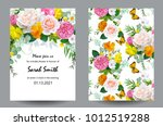 bridal shower with tender roses | Shutterstock .eps vector #1012519288