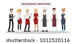 restaurant employees set. chef  ... | Shutterstock .eps vector #1012520116
