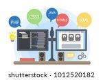 programmers computer... | Shutterstock .eps vector #1012520182