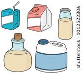 vector set of milk product | Shutterstock .eps vector #1012522306