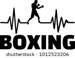 heartbeat pulse line with boxer ... | Shutterstock .eps vector #1012523206