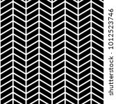 Classic chevron zigzag seamless pattern. Memphis group style black and white background | Shutterstock vector #1012523746