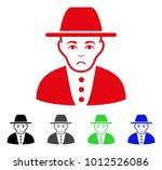 unhappy jew vector icon. vector ... | Shutterstock .eps vector #1012526086
