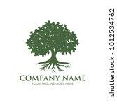 oak tree logo design | Shutterstock .eps vector #1012534762