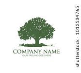 oak tree logo design | Shutterstock .eps vector #1012534765