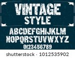 vintage font typeface... | Shutterstock .eps vector #1012535902