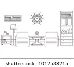 room interior outline sketch.... | Shutterstock .eps vector #1012538215