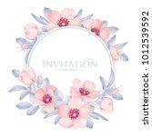 wedding invitation with wild... | Shutterstock .eps vector #1012539592