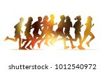 running people. crowd of young... | Shutterstock .eps vector #1012540972