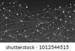 monochrome geometric abstract... | Shutterstock .eps vector #1012544515