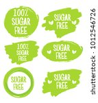 green label with text sugar free | Shutterstock .eps vector #1012546726