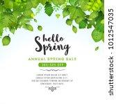 spring leaves background ... | Shutterstock .eps vector #1012547035