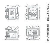 smartphone tablet laptop and... | Shutterstock .eps vector #1012547632