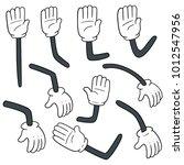 vector set of cartoon arm | Shutterstock .eps vector #1012547956