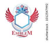 graphic emblem composed using... | Shutterstock .eps vector #1012547992
