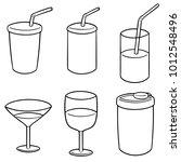 vector set of beverage cup | Shutterstock .eps vector #1012548496